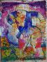 le piège, technique mixte sur toile, 65 x 50 cm 2013