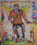 L'homme pressé, technique mixte sur toile,  48 x 36 cm, 2013