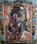La hoz y el Martillo, technique mixte sur toile,  48 x 36 cm, 2013