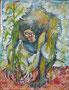 Paysan, technique mixte sur toile, 65 x 50 cm