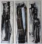 Abstrakt, 2015, 29,5 x  24,9 cm, Tusche und Acryl auf Karton