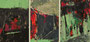 Tempera und Acryl auf Karton / 8,6 x 37,8 cm