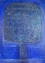 The Beautiful Healing Tree - Blu II,  2012, mixed media on canvas, 33 x 24 cm