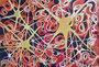 Organisches Gelb-Rot,Aquarell,30x40,2014