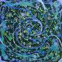 Spiralfantasie,Alucollage,60x60,2012