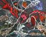 Red Spots,Alucollage+Sgraffito,28x35,2012, vergeben