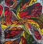 Rot-Gelb-Fusion,Alucollage+Sgraffito,50x50,2012