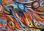 Saturnspiralen,Sgraffito-Collage,50x70,2013