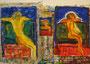 links Richard's, in der Mitte ist die Vorlage, rechts Uli's Meisterwerk