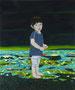 小さな声#1 2012/木製パネルにキャンバス、アクリル、ジェッソ、メディウム /727×605×25 mm