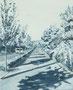 記憶のかけら_伸びる影 / 2014 / キャンバス、アクリル、ジェッソ、メディウム / 273×220 mm