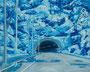 記憶のかけら_トンネル / 2014 / キャンバス、アクリル、ジェッソ、メディウム / 220×273 mm