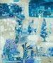 スクラップブックのような絵画#19 / 2014 / キャンバス、アクリル、ジェッソ、メディウム / 727×606 mm