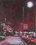 記憶のかけら_街灯 / 2014 / キャンバス、アクリル、ジェッソ、メディウム / 273×220 mm