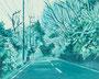 記憶のかけら_国道 / 2014 / キャンバス、アクリル、ジェッソ、メディウム / 220×273 mm