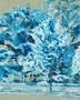 記憶のかけら_街路樹 / 2014 / キャンバス、アクリル、ジェッソ、メディウム / 273×220 mm