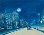 記憶のかけら_夜のドライブ / 2014 / キャンバス、アクリル、メディウム / 220×273 mm