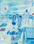untitled / 2014 / キャンバス、アクリル、ジェッソ、メディウム / 410×318 mm