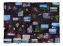 スクラップブックのような絵画#5(記憶の断片)2012/紙に印刷物、アクリル、顔料、ジェッソ、メディウム、他 /870×1180 mm