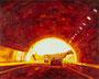 記憶のかけら_トンネル/ 2014 / キャンバス、アクリル、ジェッソ、メディウム / 220×273 mm