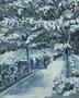記憶のかけら_遊歩道 / 2014 / キャンバス、アクリル、ジェッソ、メディウム / 273×220 mm