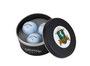 Metalldose mit 3 Golfbällen