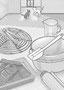「小説現代 2月号」(其の二)クッキングツールを描きました。