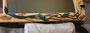 Lederbild - Ast mit Birnbaumblättern