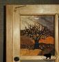 Lederbild - Kirschbaum im Herbst