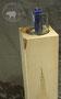 Säulenkerzenständer aus Ahornholz mit Glasschale