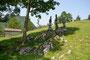 """Kunstwerk """"lose - und doch verbunden"""" von Isolde Angerer aus Steinen aus dem Nationalpark Hohe Tauern."""
