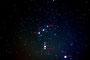 Oriongürtel mit M42 am 22.11.2008, Canon EOS 450D huckepack auf Meade ETX-90 PE, 55mm, f/5.0, 2 x 5 min, ISO 800 + 2 x 2,5 min, ISO 400