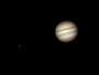 Jupiter mit Europa am 16.08.2008, Meade ETX-90 PE, SPC900NC (RAW-Modus,col), Filter (W12), 3x Barlowlinse, 120 aus 1.200 Bilder (640x480)