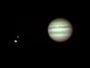 Jupiter mit Io am 29.08.2008, Meade ETX-90 PE, SPC900NC (RAW-Modus,col), Filter (W12), 3x Barlowlinse, 12 aus 1.200 Bilder (640x480)