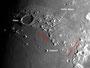 Krater Plato, Montes Alpes & Montes Caucasus am 01.06.2009, Celestron C9.25 (CG-5GT), ALCCD5, 1000 Bilder (1280x1024), Ausschnitt, s/w