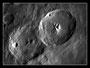 Krater Theophilus und Cyrillus am 01.05.2009, Celestron C9.25 (CG-5GT), DMKAU04.AS, 2x Barlowlinse, 200 aus 2000 Bilder (640x480), s/w