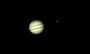 Jupiter und Io am 09.10.2008, Meade ETX-90 PE, SPC900NC (RAW-Modus,col), Filter (W12), 3x Barlowlinse, 120 aus 1.200 Bilder (640x480)