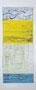 Ohne Titel, Holzdruck auf Leinwand, 50 x 120 cm