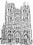"""Die Kathedrale Notre Dames des Amiens. Filzstiftzeichnung für einen Artikel für """"Karfunkel"""""""
