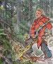 Zombie im Wald. Bleistiftzeichnung Metin Temel; Tusche, Farbe, Bildbearbeitung und Fotohintergrund von mir