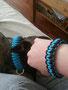 Lolli und Frauchen mit KingLuy Bänder