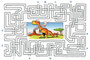 """""""Dinolabyrinth"""" (Durchstarten Deutsch Aufsatztraining 1, 2009) - Veritas Verlag, Linz"""