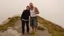 ... zusammen mit Freundin Valentina. Auch hier war das Wetter schlecht und der Berg im Nebel.
