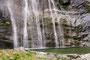 der Wasserfall im Tal (Ticino)
