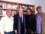 Tournage Les Artistes et le Parti / Jack Ralite / Jean-François Lepetit