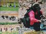 Leinwandcollage Aid Atta/Haddidou Berberinnen Marokko 2009 30x40 cm Preis 60,-€ inkl. Porto