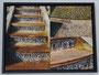 Leinwandcollage mit Rahmen Wasserspiele Barockgarten Schleswig 2010 30x40 cm,  verkauft