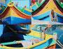 Leinwandcollage Boote Malta 2014 30x40 cm Preis 60,- € inkl. Porto