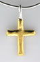 24K gold cross.