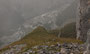 da geht's nochmal recht steil bergab bei einsetzendem Nebel und Nieselregen, doch unten wartet das Auto